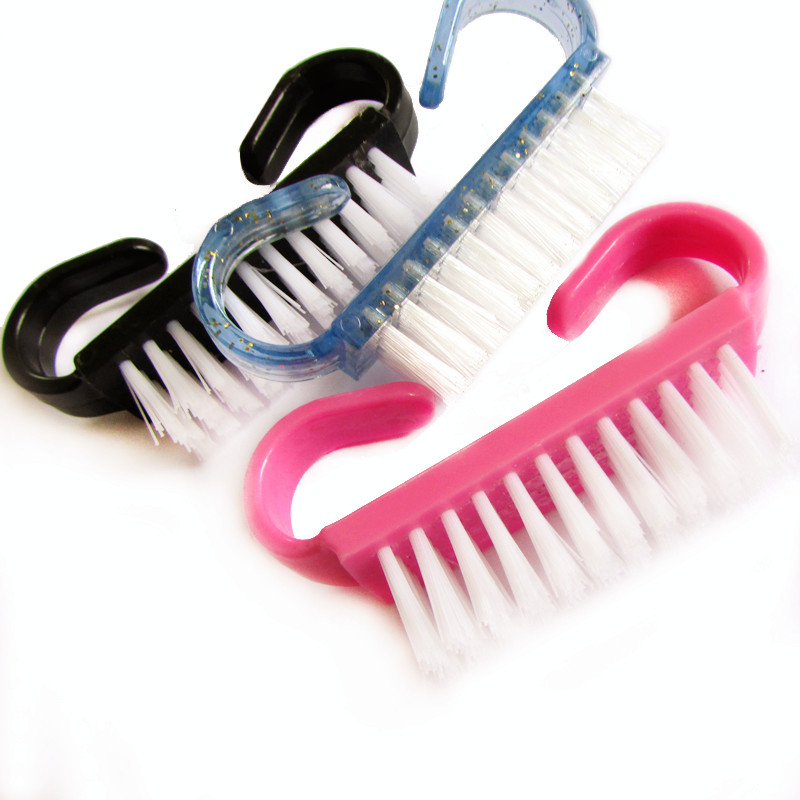 10 Piece Hot sales font b Nail b font Cleaning Clean Brush Tool File Manicure Pedicure
