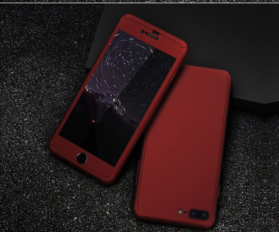 360 Protective Tempered Glass Case