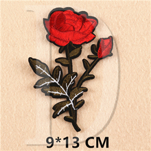 Rose Embroidered Iron On Patches