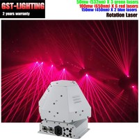 1 Вт лазерной rgb Вращающийся Шар лазерный глаз КТВ флэш баре шаблон этап DMX512 свет этап