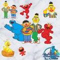 Emo Big Bird Sesame Street Fantoche Dos Desenhos Animados Adesivo de Parede Murais Decorativos Quarto Dos Miúdos Papel De Parede do jardim de Infância Adesivos Presente de Aniversário