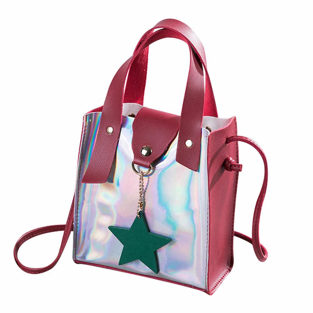 ... 2018 Shoulder Bags For Women Clear Crossbody Bag Transparent Laser Mini Messenger  Bags Handbags Clear PVC ... e05efff21830a