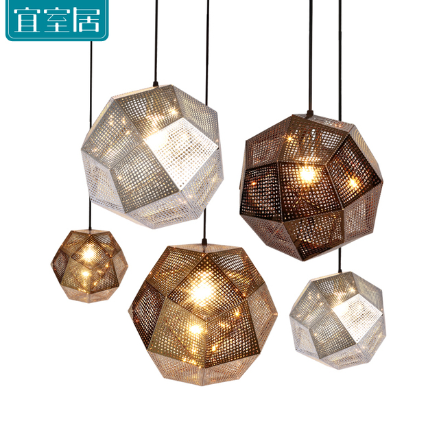 Contemporary polygon stainless steel mesh metal plating metal contemporary polygon stainless steel mesh metal plating metal restaurant gold silver bronze pendant lights high aloadofball Images