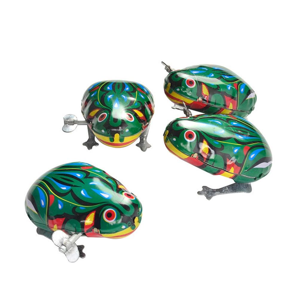 Retro Jumping Frog Clockwork Toys Wind Up Vintage Metal Clockwork Toys Tin Vintage Vintage