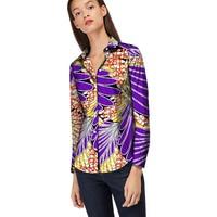 Personal Tailor Women African Print Dashiki Ceremonial Clothes Turndown Collar Ladies Long Sleeve Shirts Africa Clothing