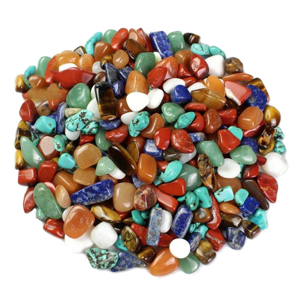WINOMO 1 Bag Crystal Quartz Yellow Agate Tigers Eye Turquoise Red Agate Aventurine Lapis Lazuli For Art Craft Projects Stones