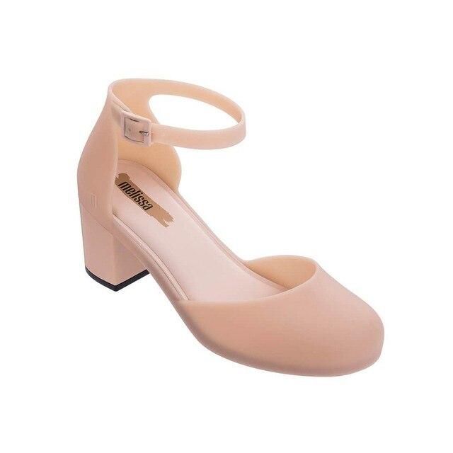 buy popular 18477 006c6 Rosa Melissa High Ferse Sandalen Frauen Gelee Schuhe 2019 Neue Damen  Weibliche Non slip