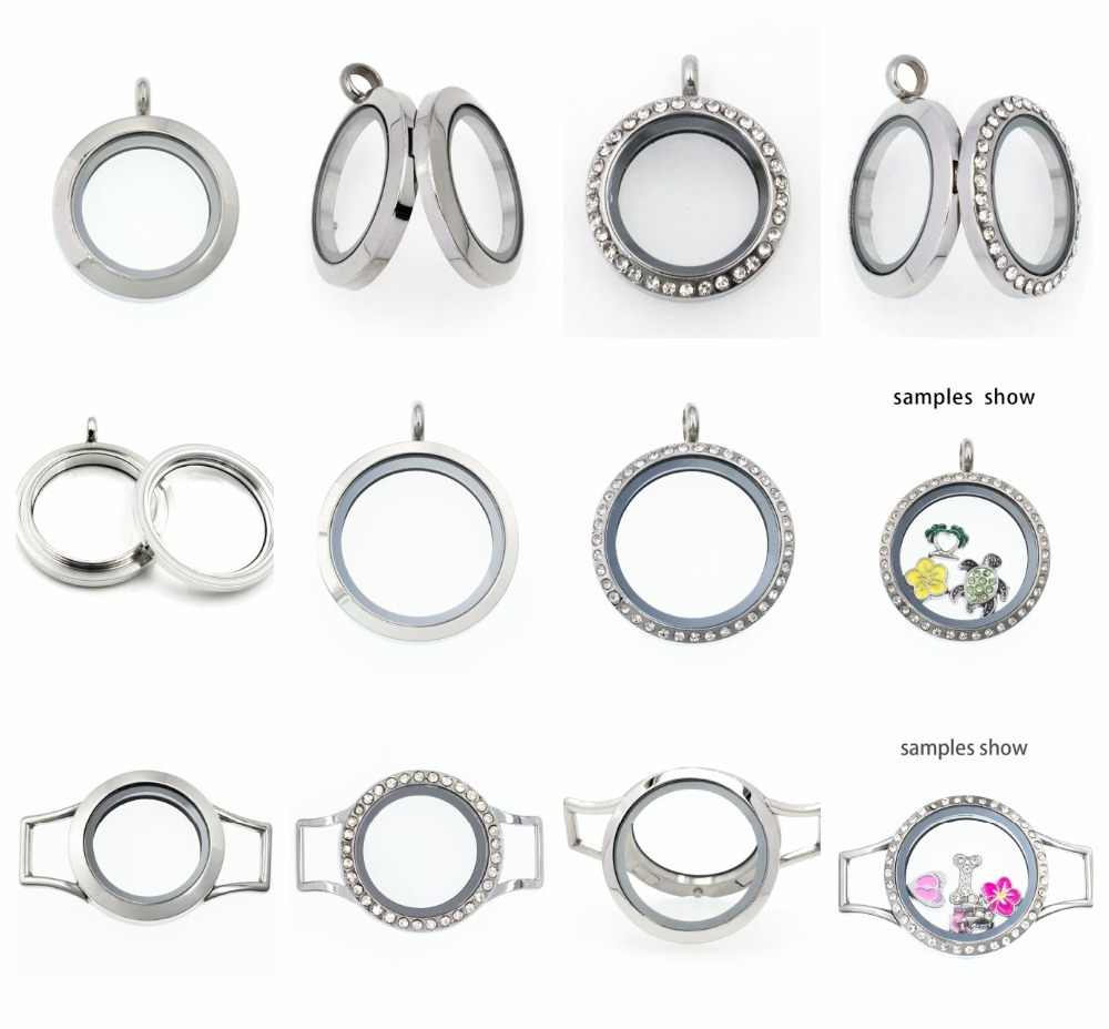 10 Pcs 20 Mm/25 Mm/30 Mm Bling Glas Living Memory Medaillon Medaillon 316L Rvs Medaillon fit Maken Ketting Wrap Armband