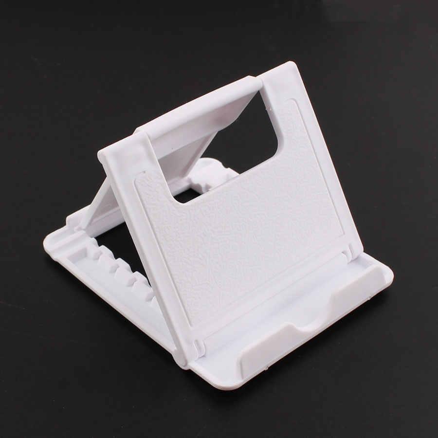 電話ホルダーデスクは、あなたの携帯電話iphone 4 用三脚xsmax huawei社P30 xiaomi mi 9 プラスチック折りたたみデスクホルダースタンド