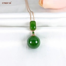 Certified Natural Hetian Jade Jasper Inlaid With 18K Gold Lucky Jade Pendant Hand Carved High Quality S925 Necklace Best Gifts certified natural hetian jade jasper inlaid 18k gold lucky gourd jade pendant high quality hand carved s925 necklace best gifts