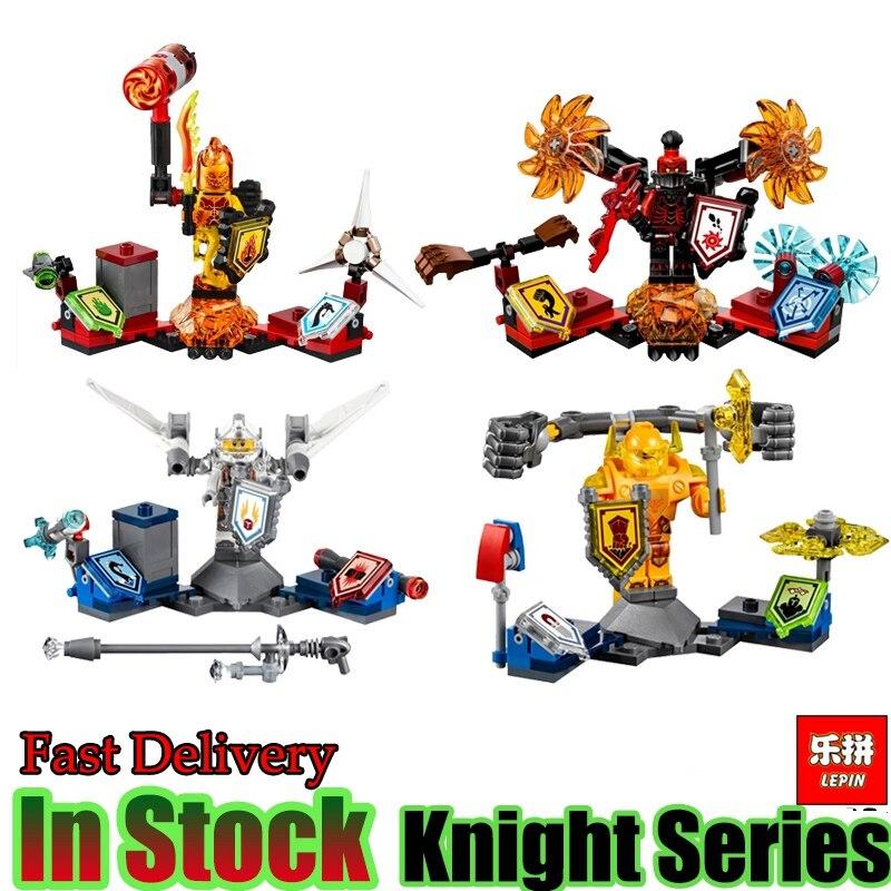 4Pcs/lot LEPIN 14014 Nexo Knight ultimate shape Future Nexus Knights Model Building Blocks Bricks Toys Gift Compatible 70336 lepin 03029 6pcs lot super heroes nexus knights future knight castle warrior building block figures bricks kid toy gift