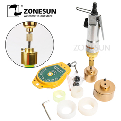 ZONESUN 10-50mm 28 29 30 31 32 38mm Powerful manual pneumatic  Alcohol Disinfectant bottle capping machine