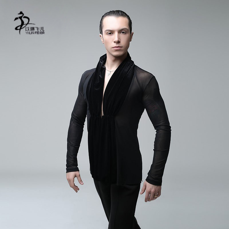 Одежда для латинских танцев плотный сексуальный купальник мужское трико