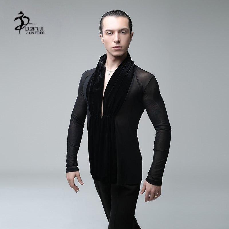 Danse latine vêtements serrés justaucorps sexy hommes collants