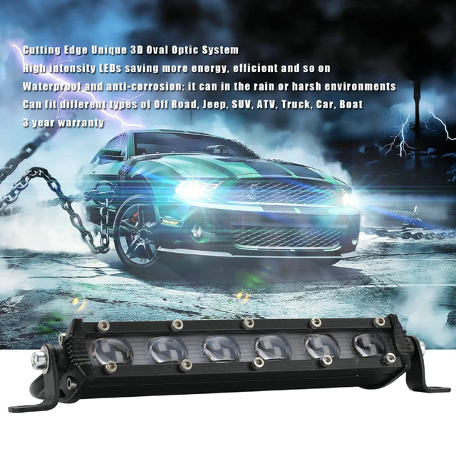 LED Lamps For Cars 8 Inch 60W LED Work Light Bar Waterproof Off Road Spotlight Floodlight Fog Lamp Luces Led Para Auto