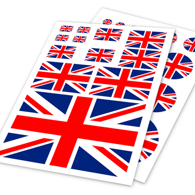 A4 Sheet UK United Kingdom Flag Colored Print Car Styling HF Sticker Auto Motorcycle Bike Laptop