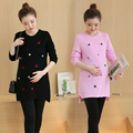 Одежда для беременных Весна Осень Свитера Пуловеры Свитер Материнства для Беременных Женщин Вышитые Беременности Футболка B259