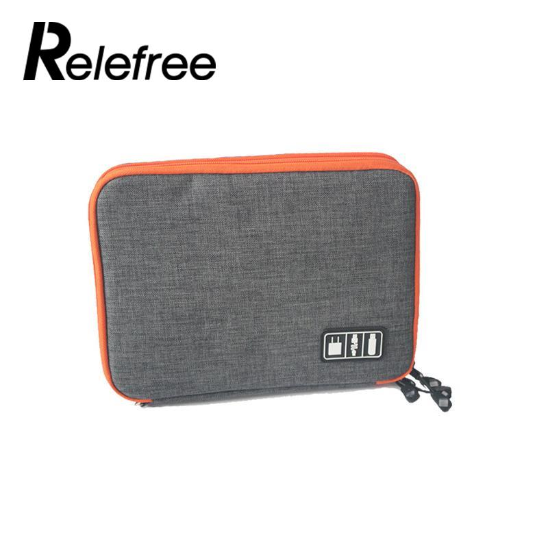 Relefree Outdoor Travel Storage Bag Waterproof Digital Pouch Organizer Storage Case Bag Camping Pouch Kit Case