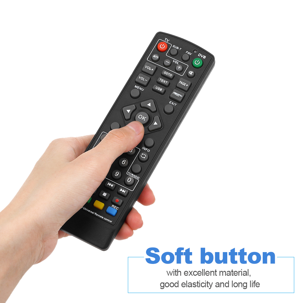 Universal Set-Top Box Remote Control Wireless Smart TV STB Controller for HDTV Smart TV Box Black DVB-T2 RC drop shipping