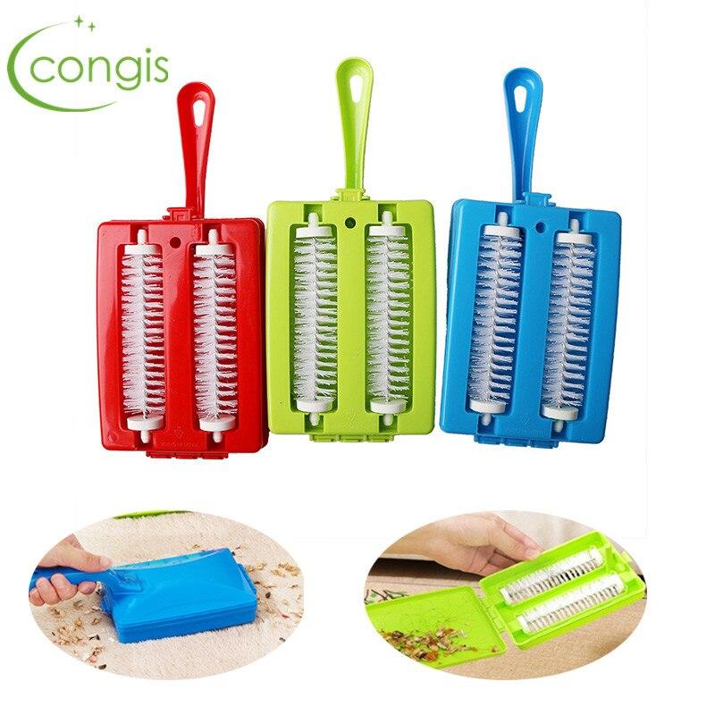 congis 1pc plastic handheld carpet debris brush sofa carpet pet hair brush dust magnetic brush cleaning tools - Hand Held Carpet Cleaner