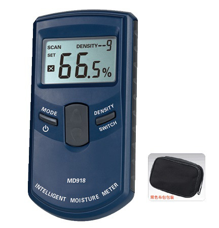 Digital wood moisture meter wood Humidity Meter Damp Detector Tester Paper moisture meter wall moisture analyzer MD918 4~80% mc 7806 wood moisture meter detector tester thermometer paper 50% wood to soil pin