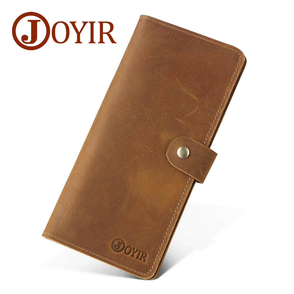 JOYIR Genuine Leather Men Wallet Male Clutch Coin Purse Walet Portomonee For Money Handy Long Fashion Wallets Hombre Perse 2065