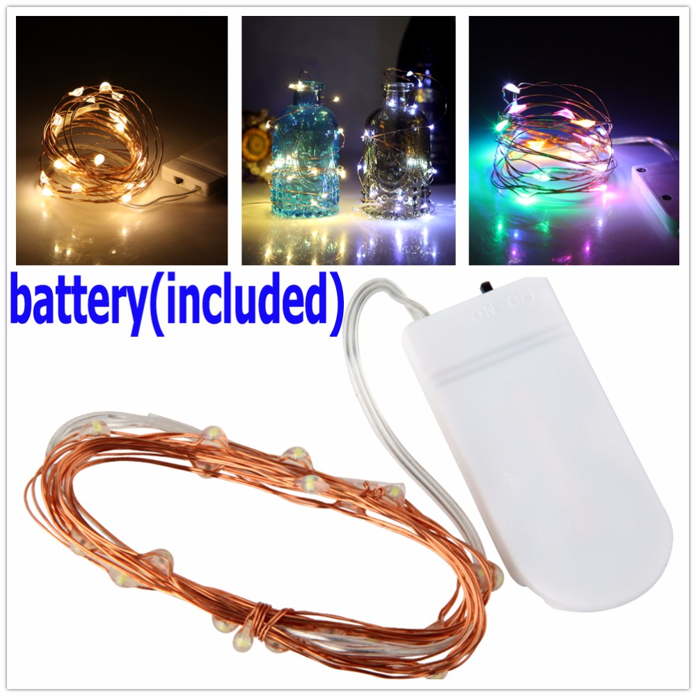 2M 20 LED LED Copper Wire String Lights for Xmas Party Wedding - Holiday Lighting