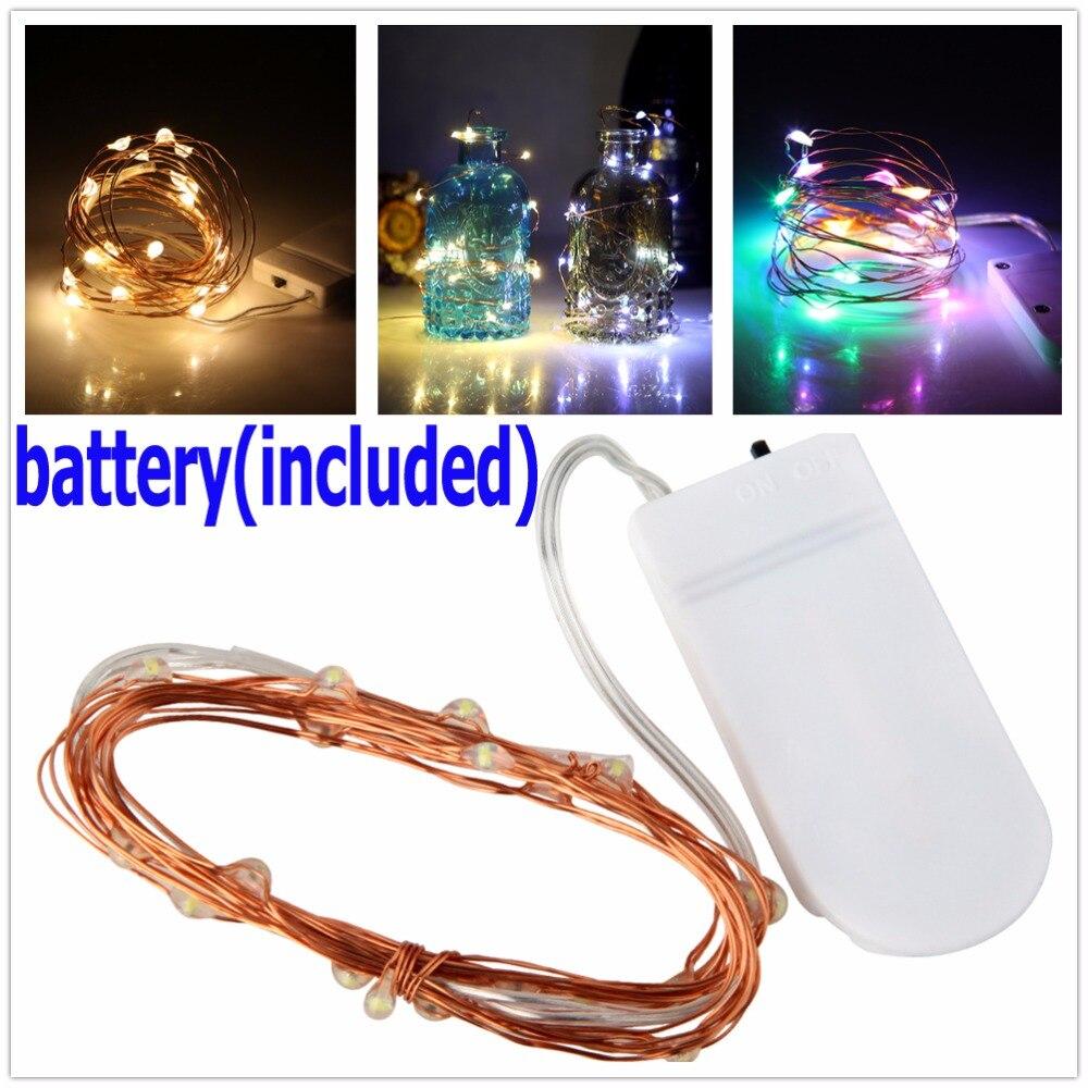 2M 20 LED LED Drut miedziany String Lights do dekoracji świątecznej - Oświetlenie wakacje - Zdjęcie 1