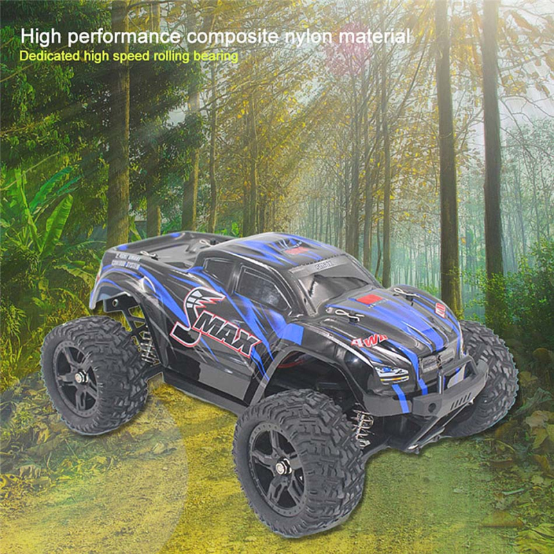 rc Electronic car With Transmitter RTR 1/16 2.4G 4WD Brushed Off-Road Monster Truck 40KM/H RC high speed rc car Toys gift 2017 new 40km h rc high speed car 1 16 proportionl 2 4g 4wd remote control off road monster truck electric power toy vs 94107pro