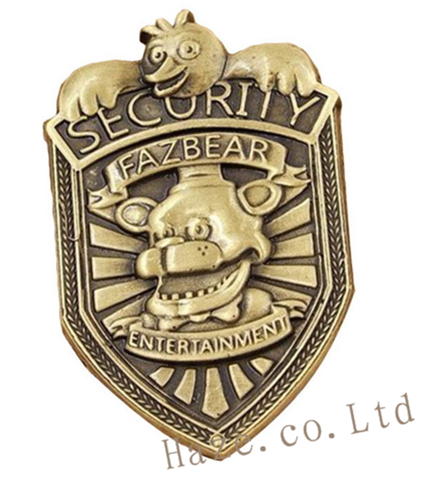Fnaf Five Nights At Freddys Security Badge Pin Silver Gifts 2 Gags & Practical Jokes