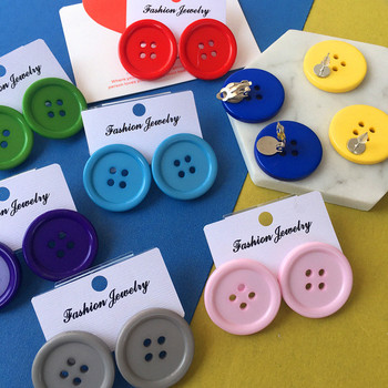 BKLD Earings Fashion Jewelry Streetwear Stud Earrings Candy Color Funny Buttons Earrings For Girls Womens Accessories 3