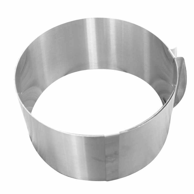 Kitchen Retractable Circle Mousse Ring Mould Baking Tool Stainless Steel Round and Square Cake Mold  Bakeware Baking Tool