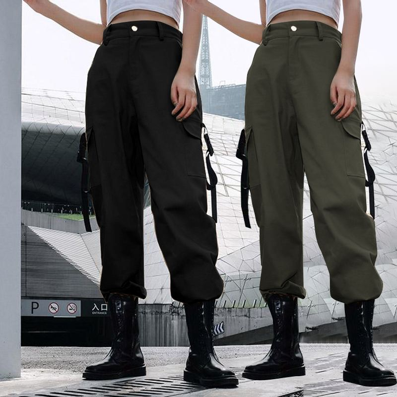 Celmia 2019 Cargo   Pants   For Women Fashion Casual Joggers High Waist Loose Streetpants Female Long Trousers   Pants     Capri   Plus Size