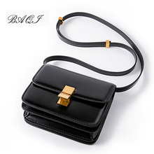 BAQI Brand Women Shoulder Bags Crossbody Messenger Bags Women Handbags Genuine Leather High Quality Fashion Lady Flap Bag Girls fashion designer flap lady brand women shoulder bag chains swallow lock messenger bags genuine leather handbag original quality