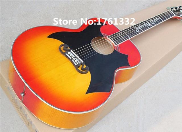 Hot Sale Factory Custom 43 20 Frets Cherry Sunburst Cat King