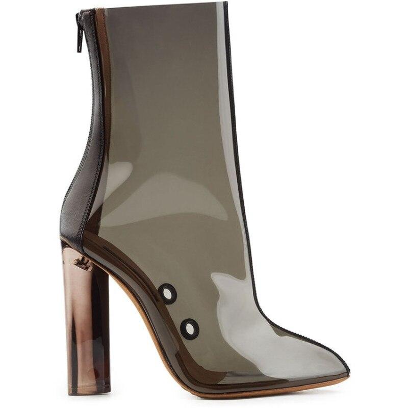 Fermeture De 2018 chaussures Haute Produits Tissu Femmes Hauts Themost À Paillettes Talons En Glissière Derniers Transparent Chaussures T4SZA