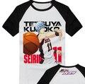 Free Shipping  Fashion Print Short Sleeve kuroko no basket shirt Shutoku School Kuroko's  T Shirt Men women