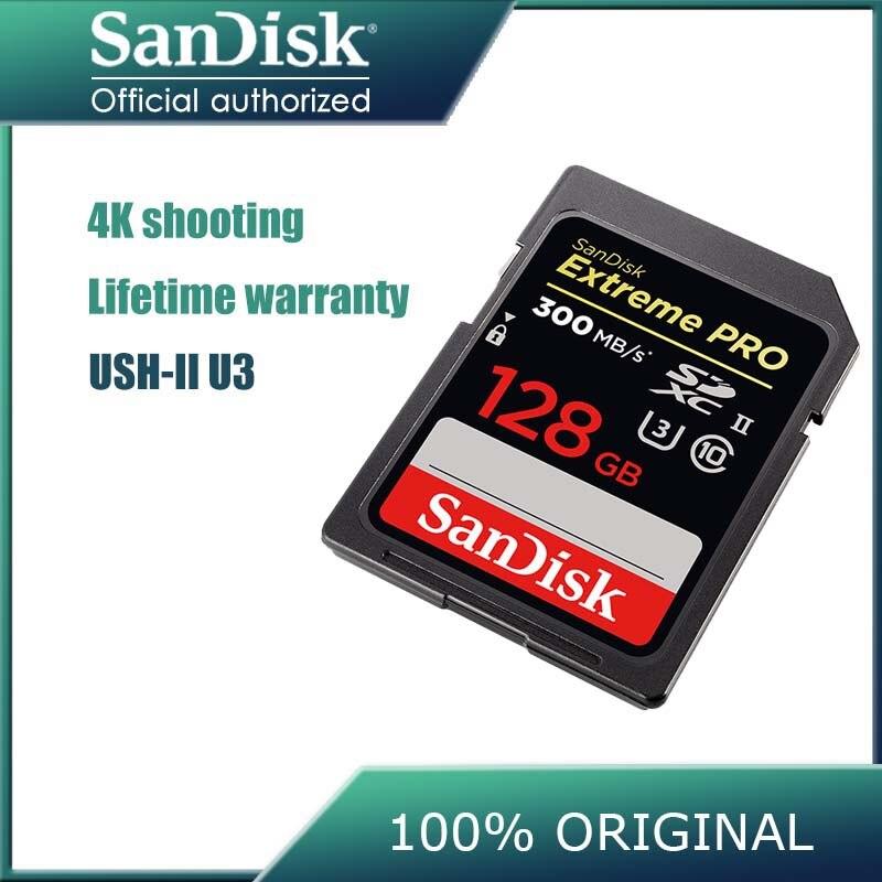 SanDisk Extreme PRO High Speed SD card 32GB 64GB 128GB Class10 300M s U3 SDHC SDXC