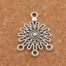 Круглые точки филигрань цветок 3 strand разделитель конец соединитель