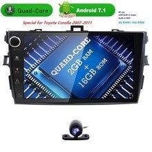 9 «2 DIN автомагнитолы GPS Android 7.1 автомобиль без dvd мультимедийный плеер для Toyota Corolla 2007 2008 2009 2010 2011 стерео Штатная 2 ГБ