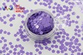 TCH308 4.0 MM Size   Solvent Resistant  Mate Colors Flower shape glitter  for nail polish,nail art  or other DIY decoration