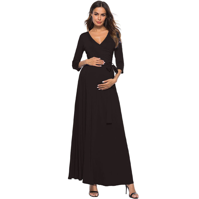 Elegant V-neck Maternity Evening Dress Long Pregnancy Dresses For Pregnant Women Clothes Gravidas Vestdios Maternity DressesElegant V-neck Maternity Evening Dress Long Pregnancy Dresses For Pregnant Women Clothes Gravidas Vestdios Maternity Dresses