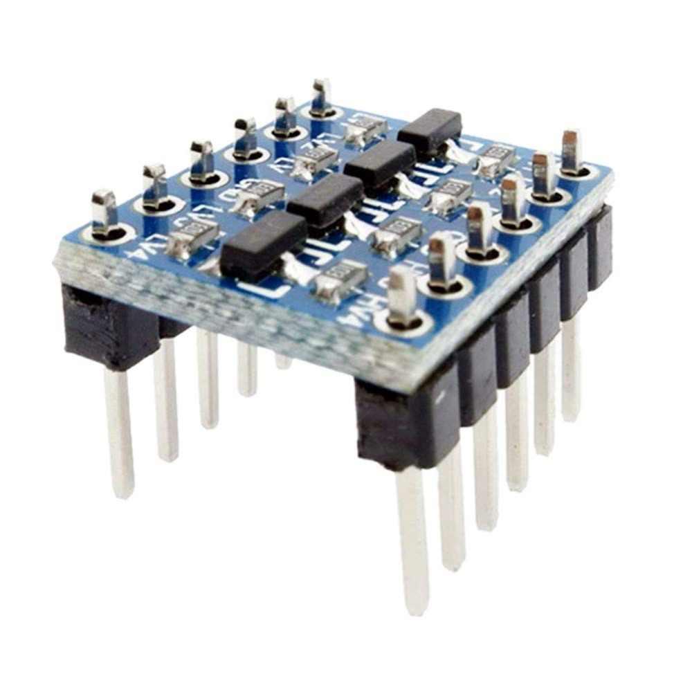 4 قناة 5 V 3.3 V IIC UART SPI TTL مستوى منطق تحويل مستوى تحويل وحدة ل التوت بي 4 قناة