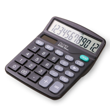 Solar Calculator Calculate Commercial Tool Battery or Solar 2in1 Powered 12 Digit Electronic Calculator