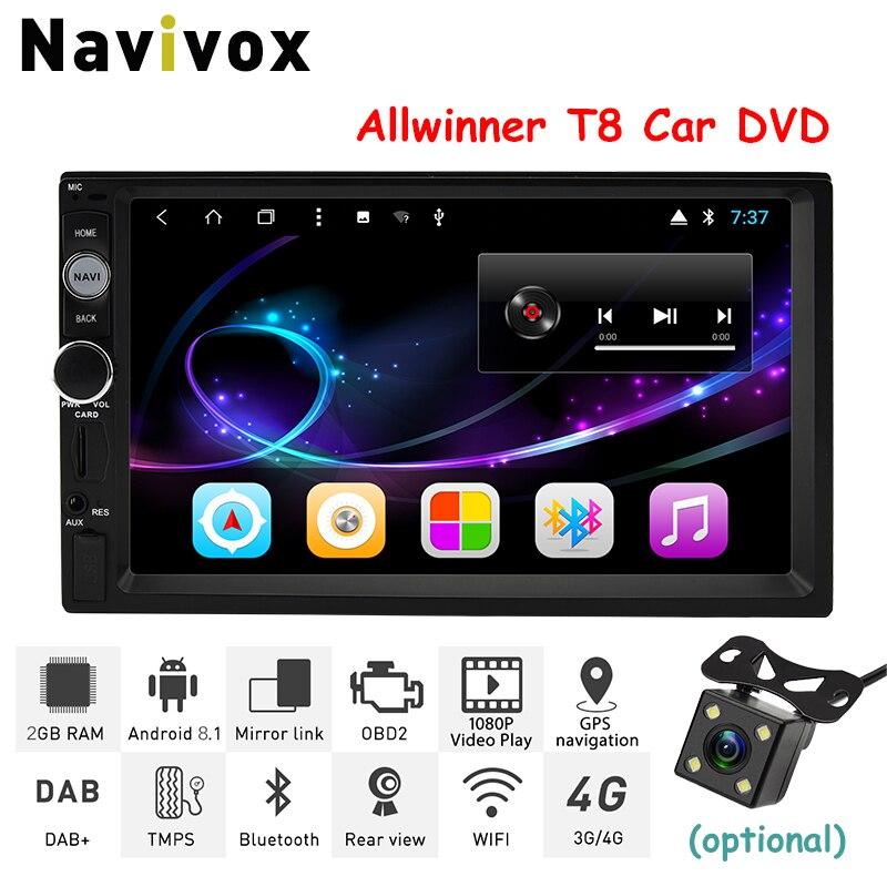 Navivox 2Din Android8.1 Voiture DVD GPS Lecteur Universel De Voiture Radio 7 GPS Android Navigation De Voiture Multimédia Stéréo Pour Nissan AUCUN DVD