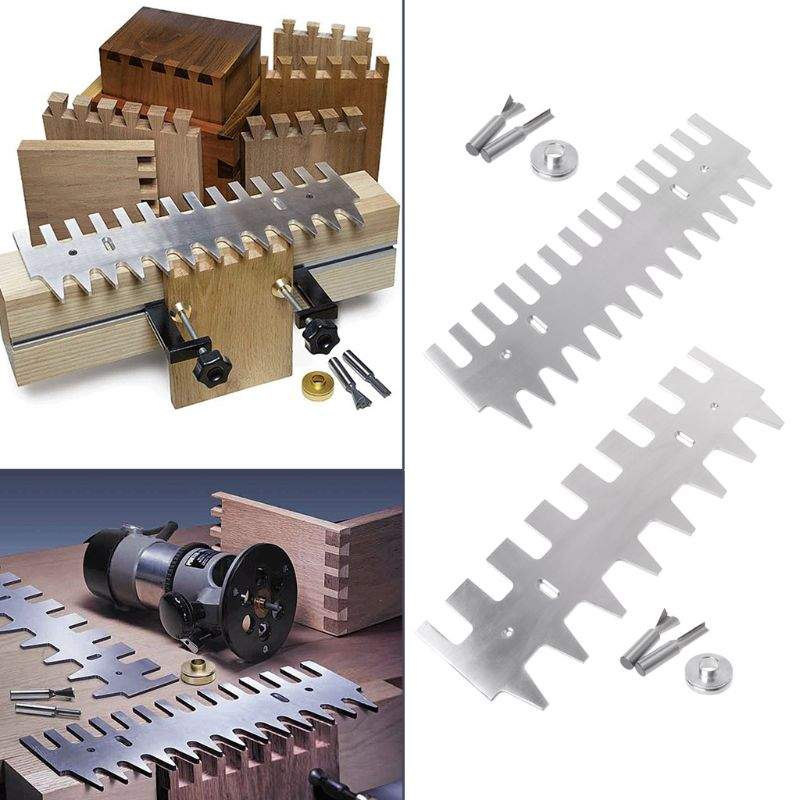 """Dovetail Template 1/4"""" Shank Bit Guide Bushing 15"""" 16"""" Aluminum Alloy Drawers Accessories"""