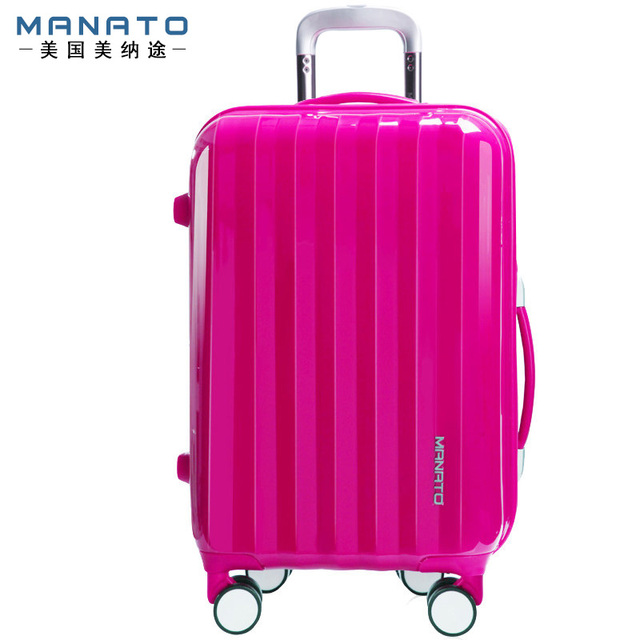 20 Inch ABS Unisex Trolley Luggage Caster Board Chassis Hard Luggage Candy Color Aluminum Travel Rolling Luggage For Men Women