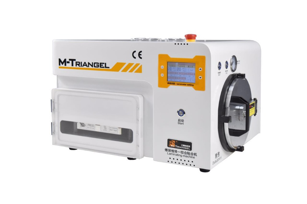 M Triangel LCD Glass Bonding Automatic Vaccum Laminator Machine For Broken Mobile Phone Fast Repair Bubble Remover for Repairing