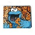 Oficial Negro Carácter Cookie Monster Gran Recorte Cartera Bi-fold DFT-1489