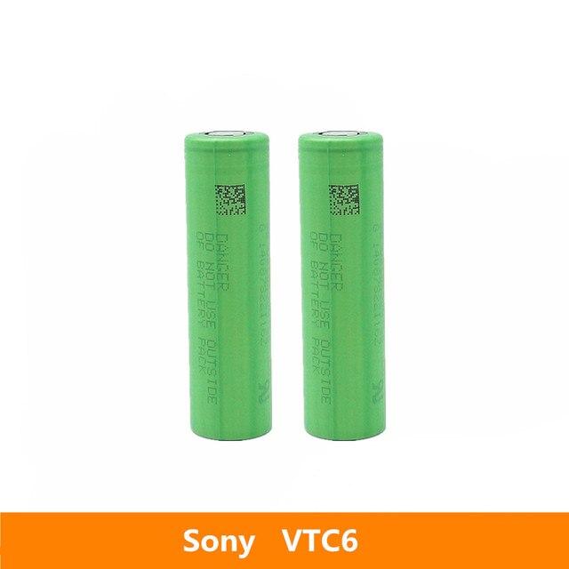 2 قطعة 3.7 فولت 18650 3120 مللي أمبير 30A الأصلي لسوني US18650VTC6 VTC6 3.6 فولت IMR بطارية لعبة E cig الشعلة مصباح يدوي إلخ
